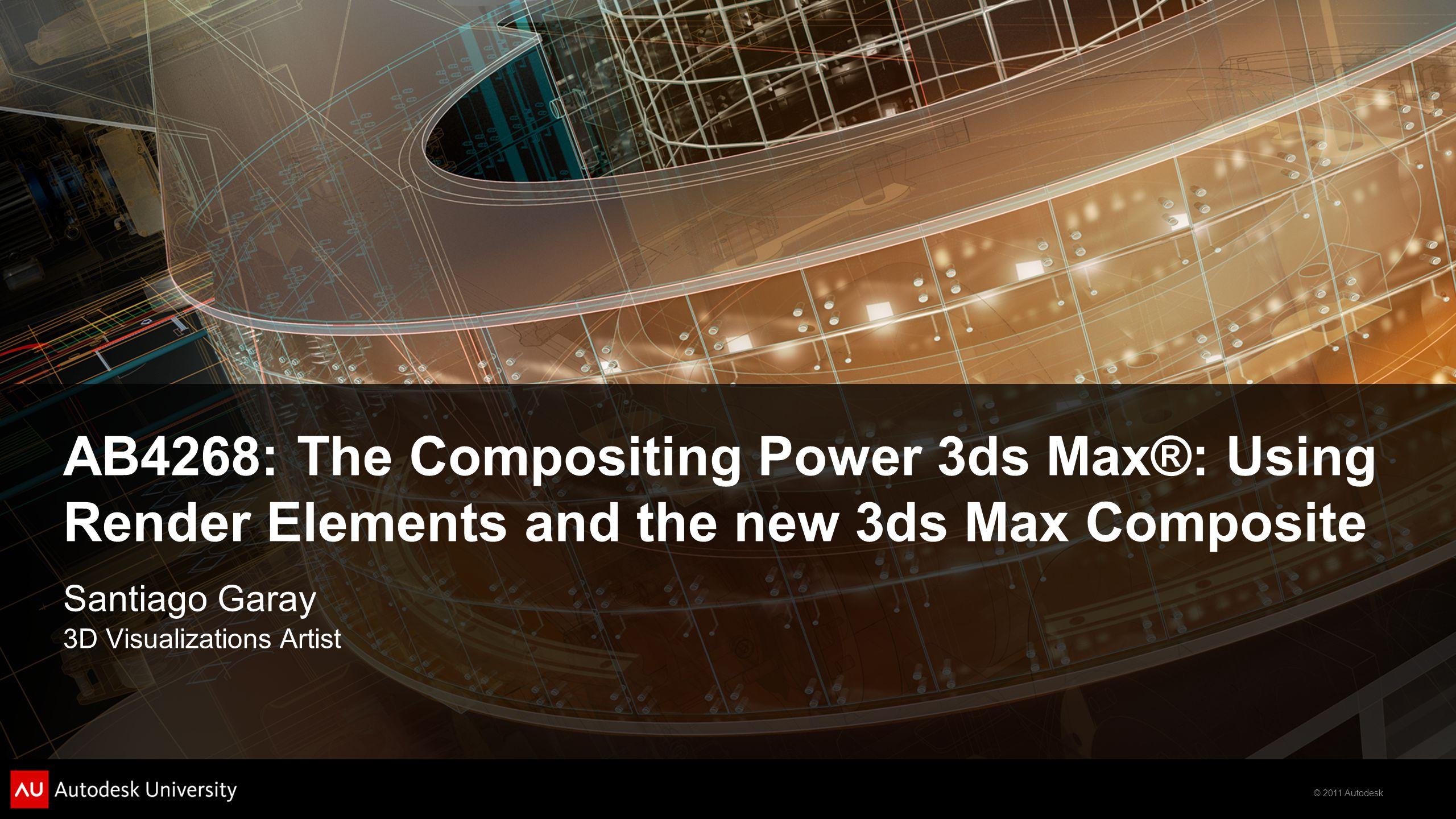 © 2011 Autodesk Matte Example 2 Matte Example 1 Matte Example 3 Matte Elements