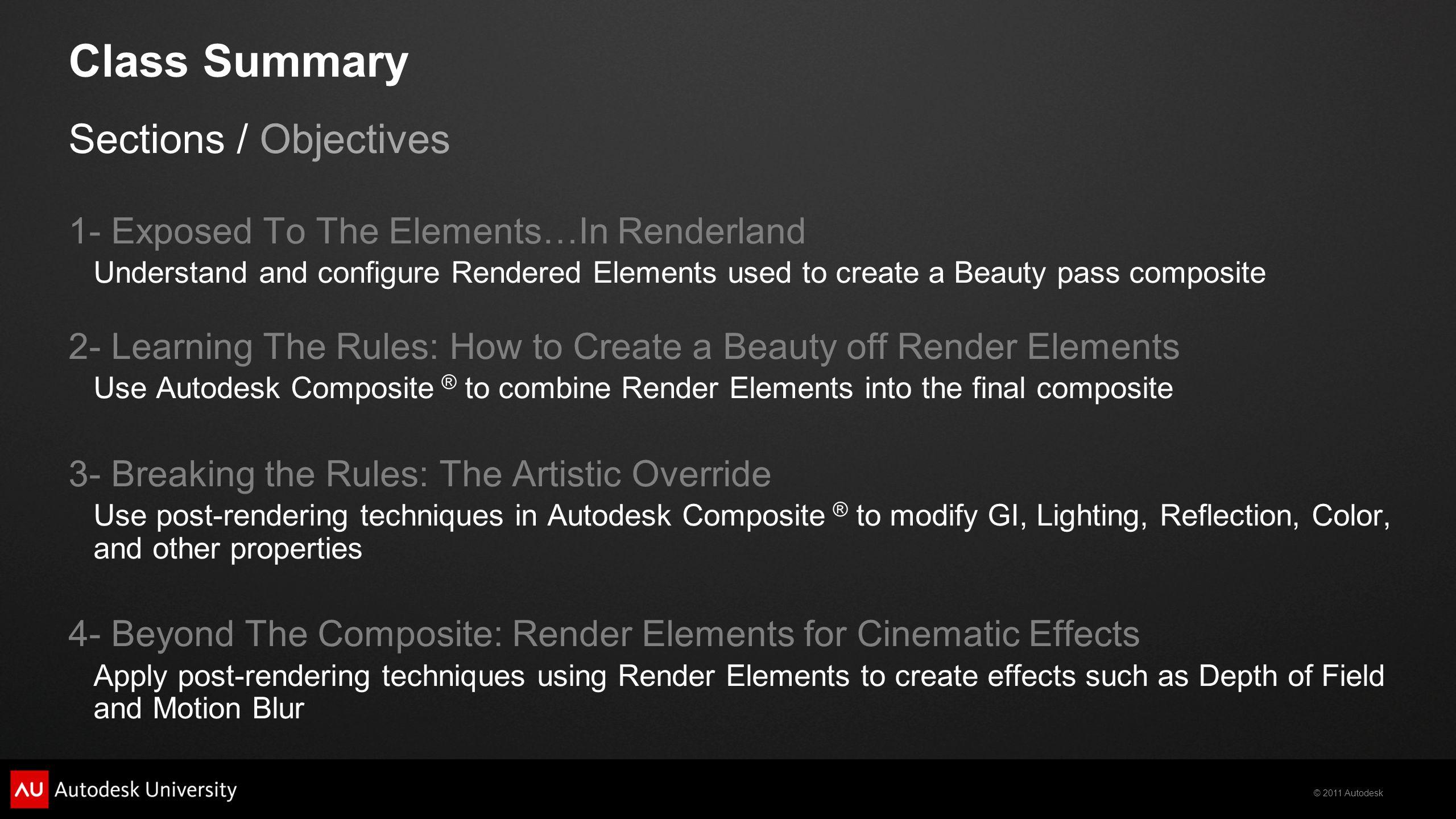© 2011 Autodesk Diffuse Filter Raw Lighting Lighting Diffuse Filter Raw Lighting Lighting Lighting