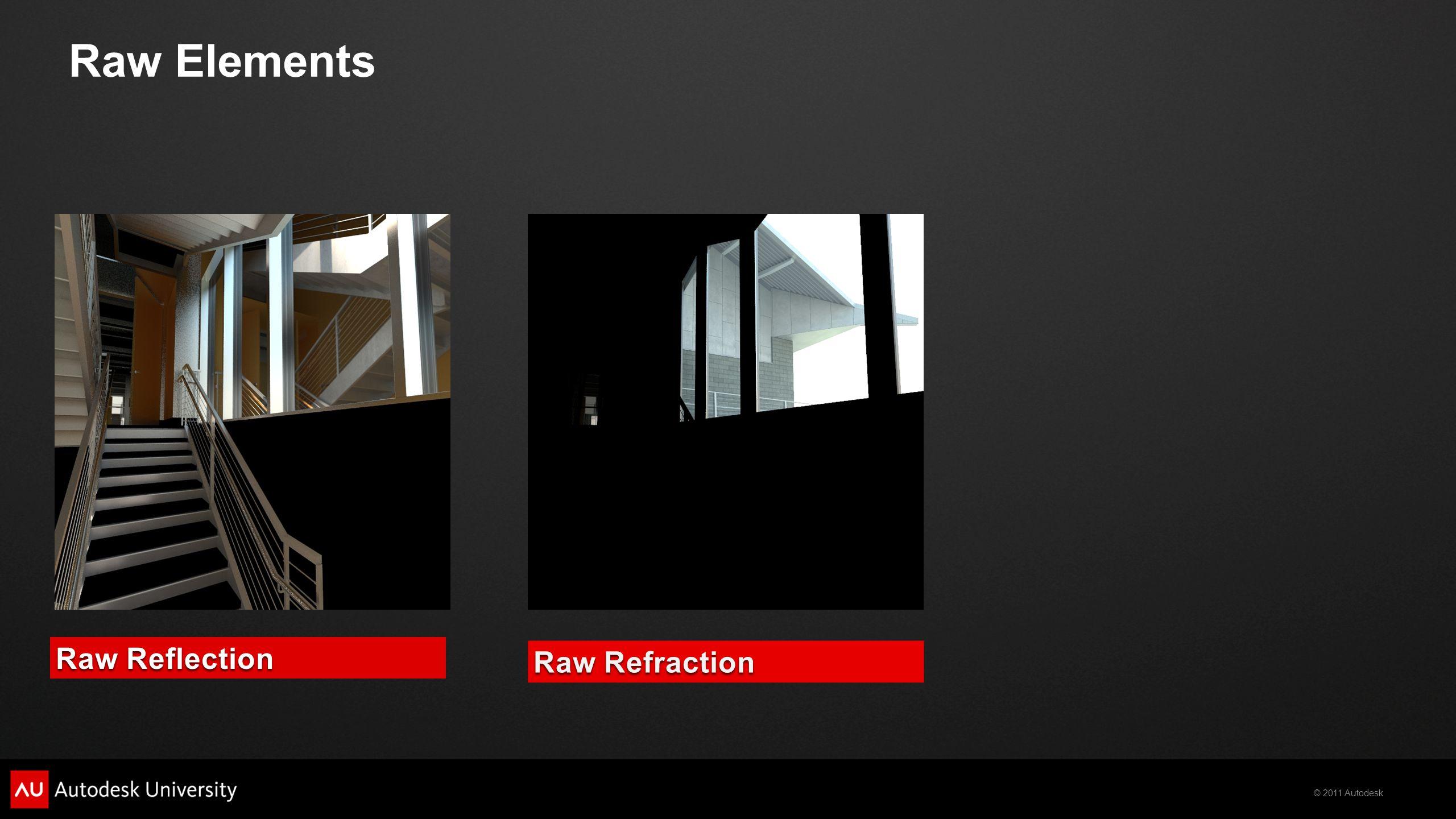 © 2011 Autodesk Background CompositionLighting Global Illumination Reflection Refraction Specular Self Illumination Beauty
