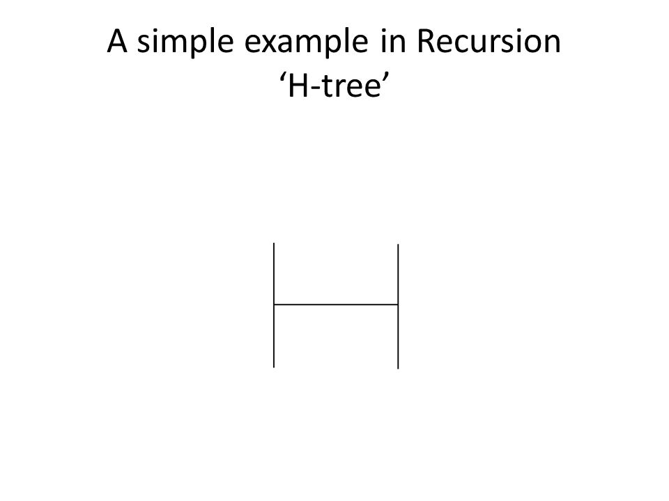 A simple example in Recursion H-tree