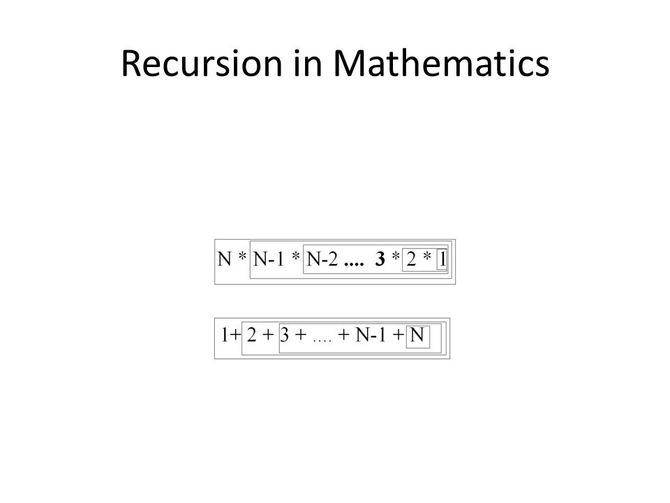 Recursion in Mathematics