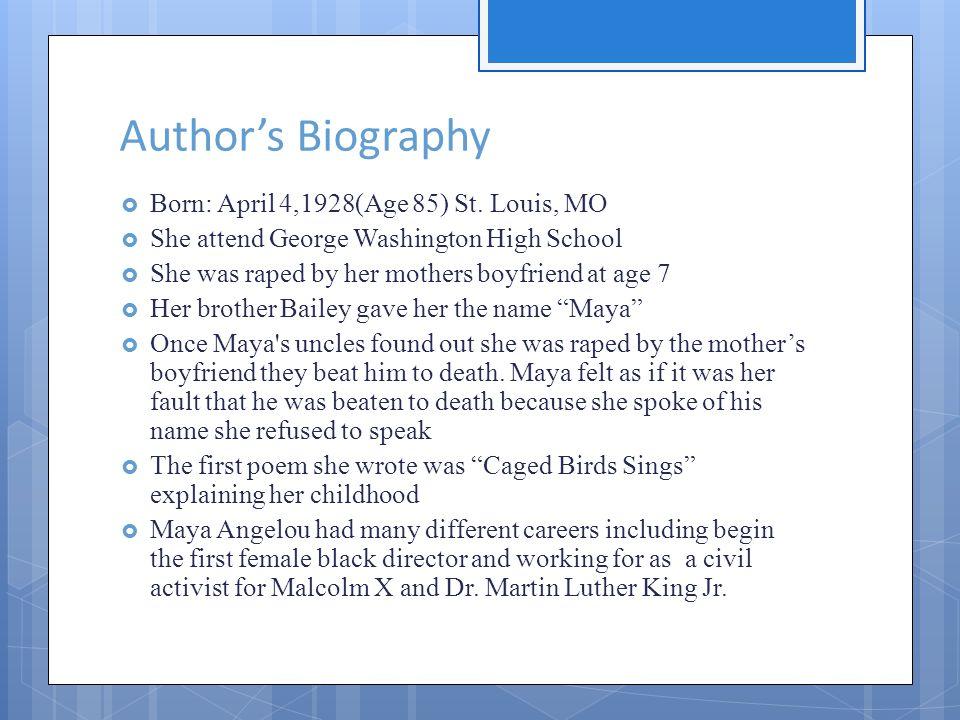 Authors Biography Born: April 4,1928(Age 85) St.