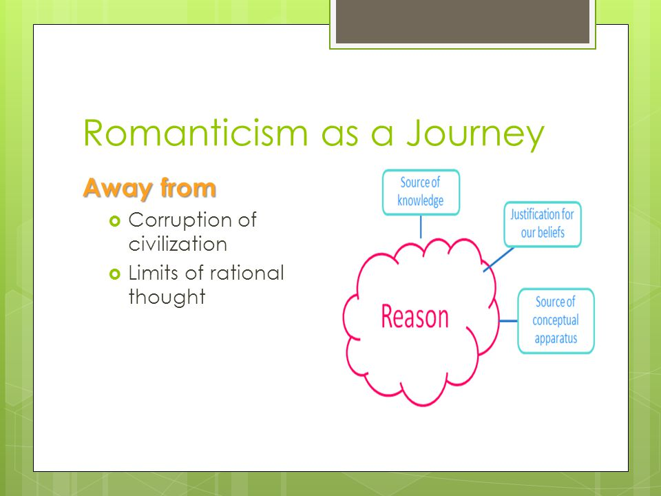 Romanticism as a Journey Toward Integrity of nature Freedom of imagination SourceSource The Deerslayer N.
