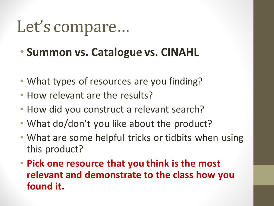 7 Steps to Database Searching 1.Identify the search question 2.