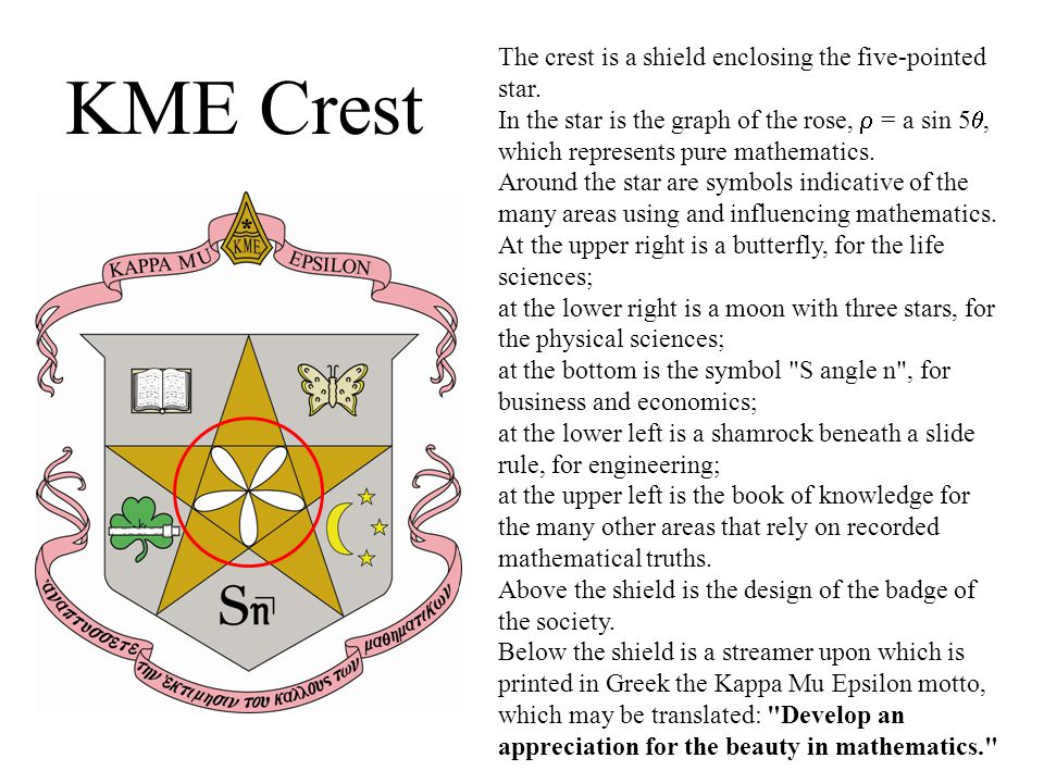 KME Crest The crest is a shield enclosing the five-pointed star.