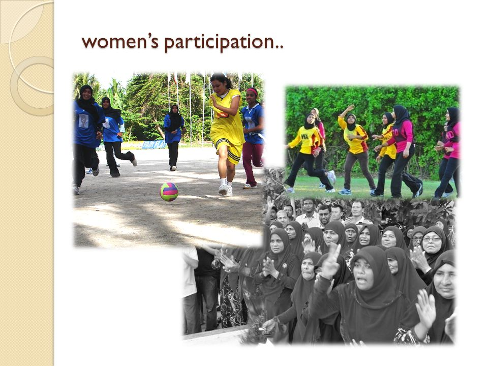 womens participation..