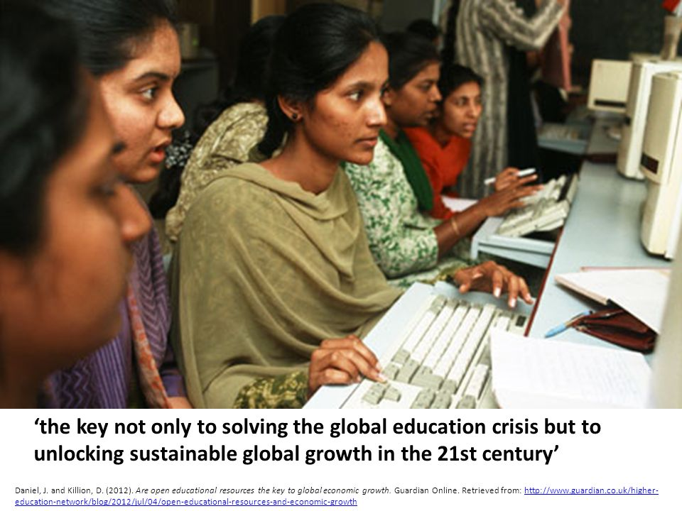 the key not only to solving the global education crisis but to unlocking sustainable global growth in the 21st century Daniel, J.