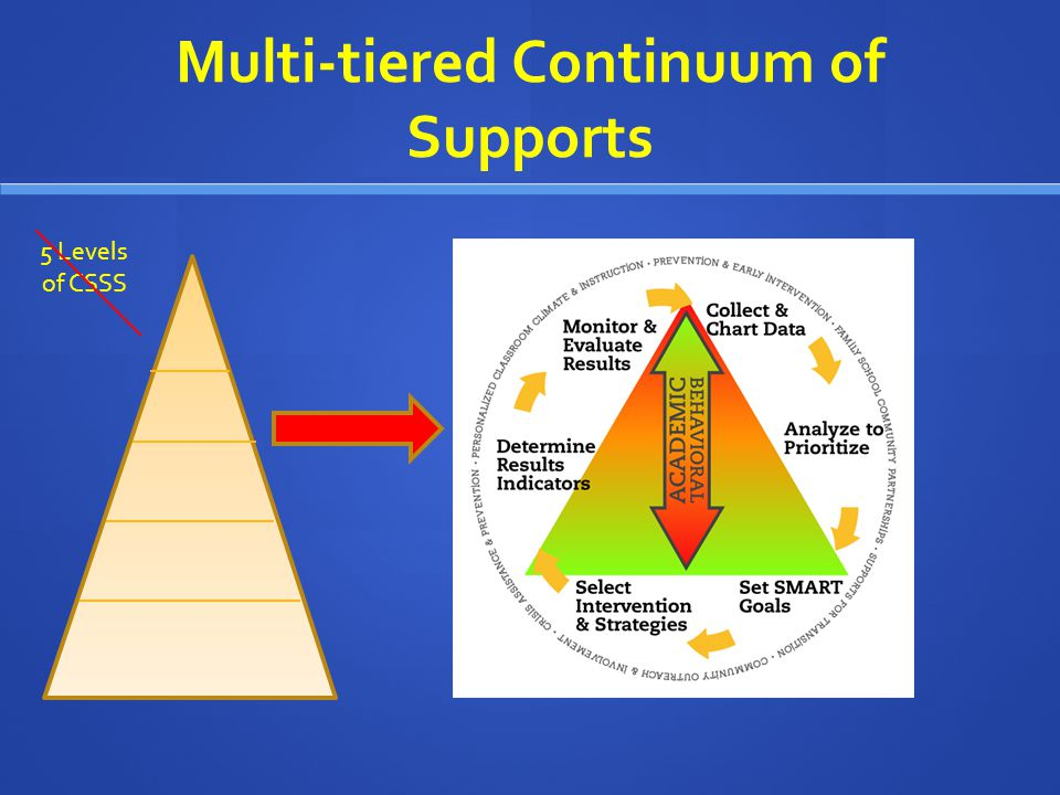 Multi-tiered Continuum of Supports 5 Levels of CSSS
