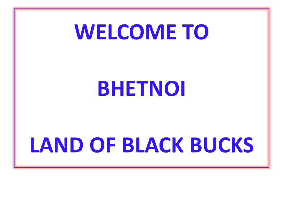 WELCOME TO BHETNOI LAND OF BLACK BUCKS