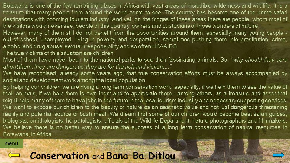 Contact Bana Ba Ditlou Postal address: Bana Ba Ditlou P.O.