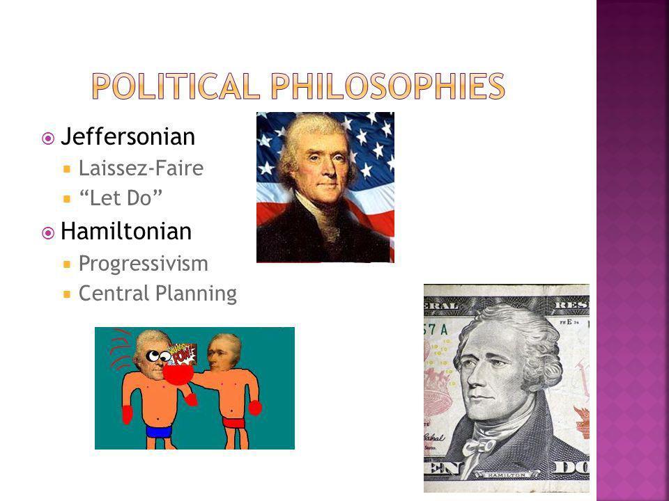 Jeffersonian Laissez-Faire Let Do Hamiltonian Progressivism Central Planning