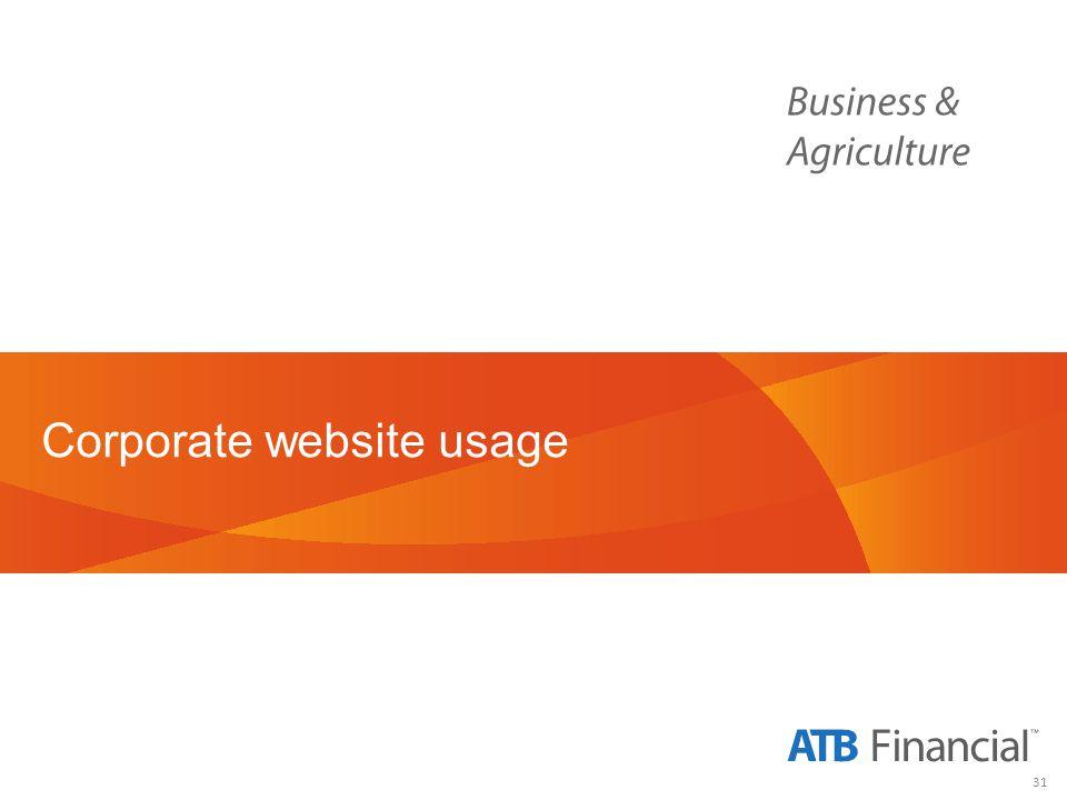 31 Corporate website usage