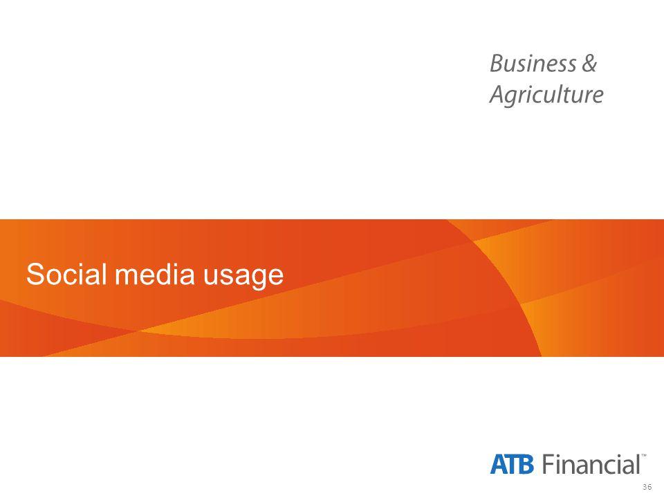 36 Social media usage