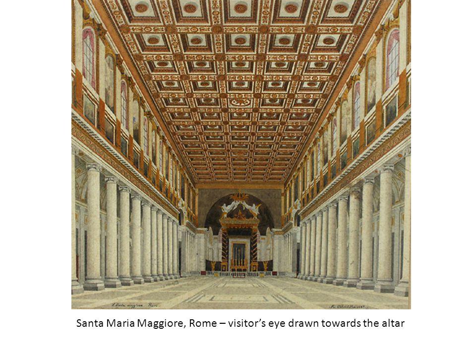 Santa Maria Maggiore, Rome – visitors eye drawn towards the altar