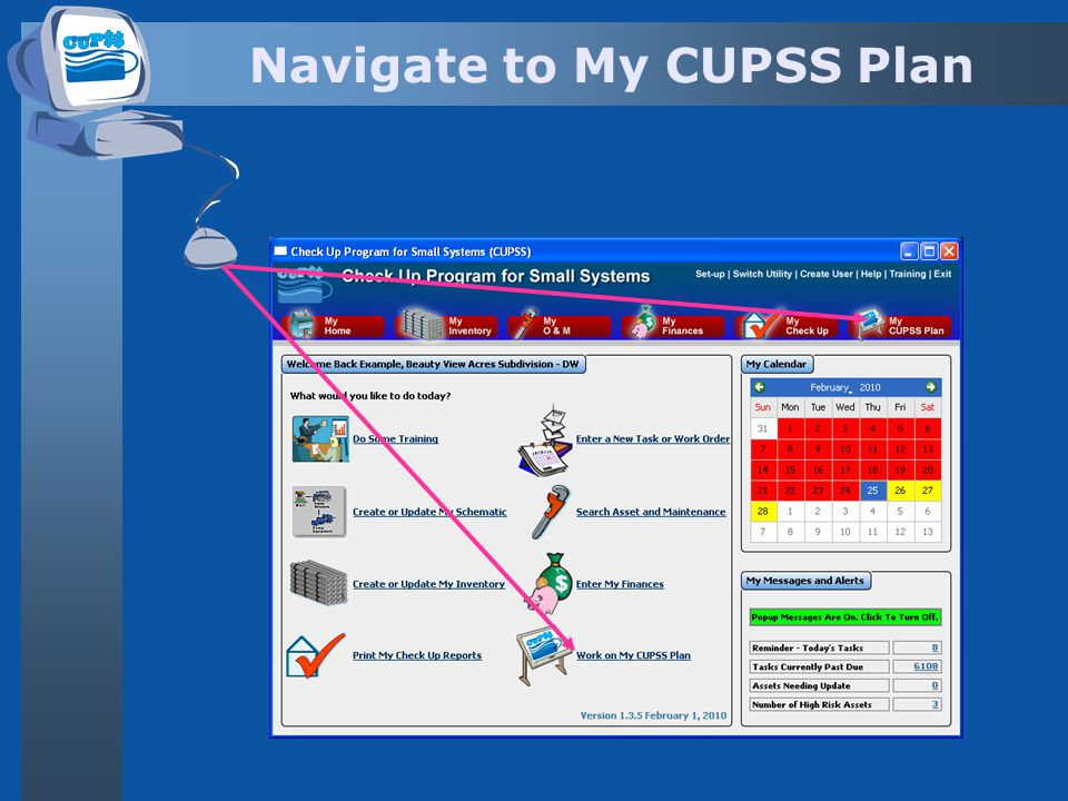 Navigate to My CUPSS Plan