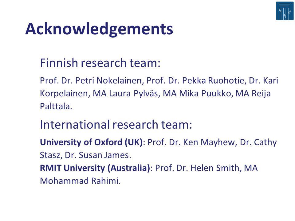 Finnish research team: Prof.Dr. Petri Nokelainen, Prof.