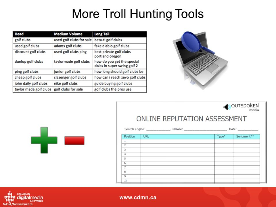 NASA/Newsmakers More Troll Hunting Tools