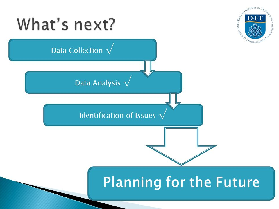 Planning for the Future Identification of Issues Data Analysis Data Collection