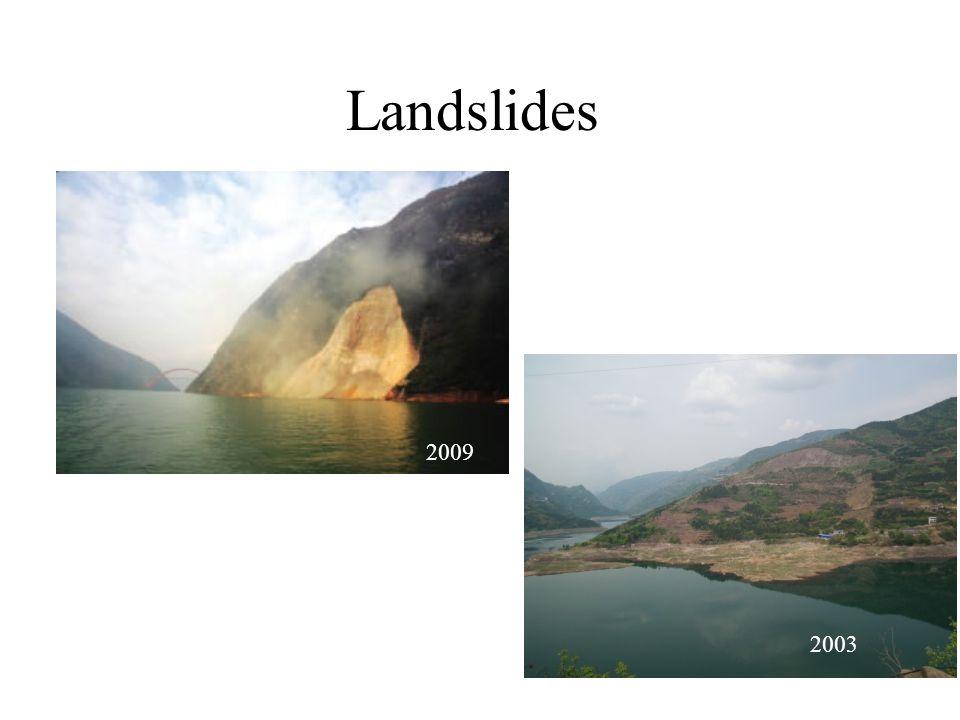 Landslides 2009 2003