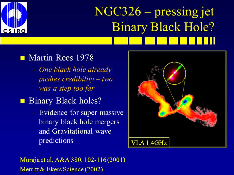 NGC326 – pressing jet Binary Black Hole.