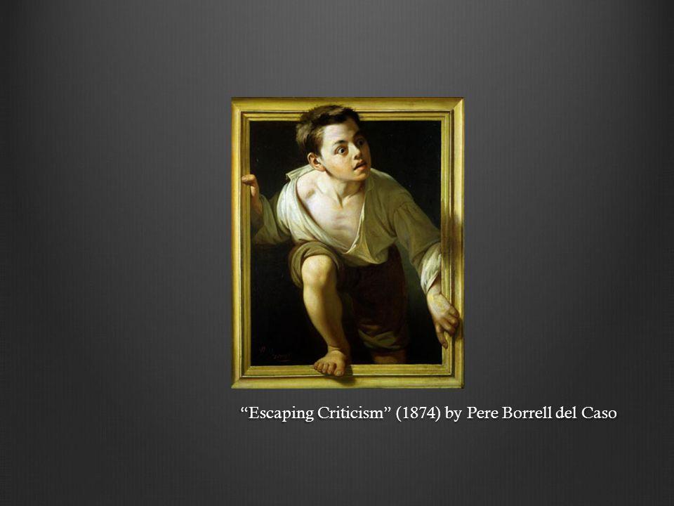 Escaping Criticism (1874) by Pere Borrell del Caso