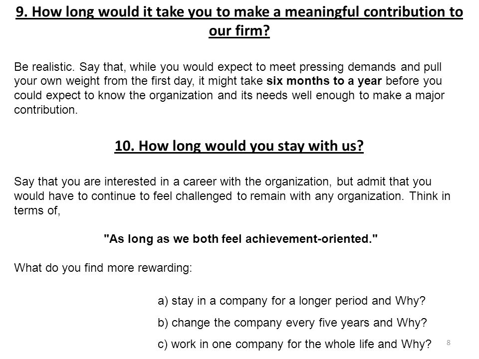 11.Your resume suggests that you may be over-qualified or too experienced for this position.