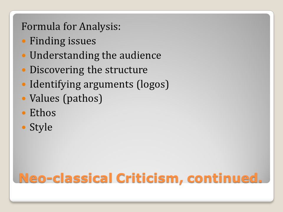 The 40-year Reign of Neo- Artistotelian Criticism (1925- 1965)