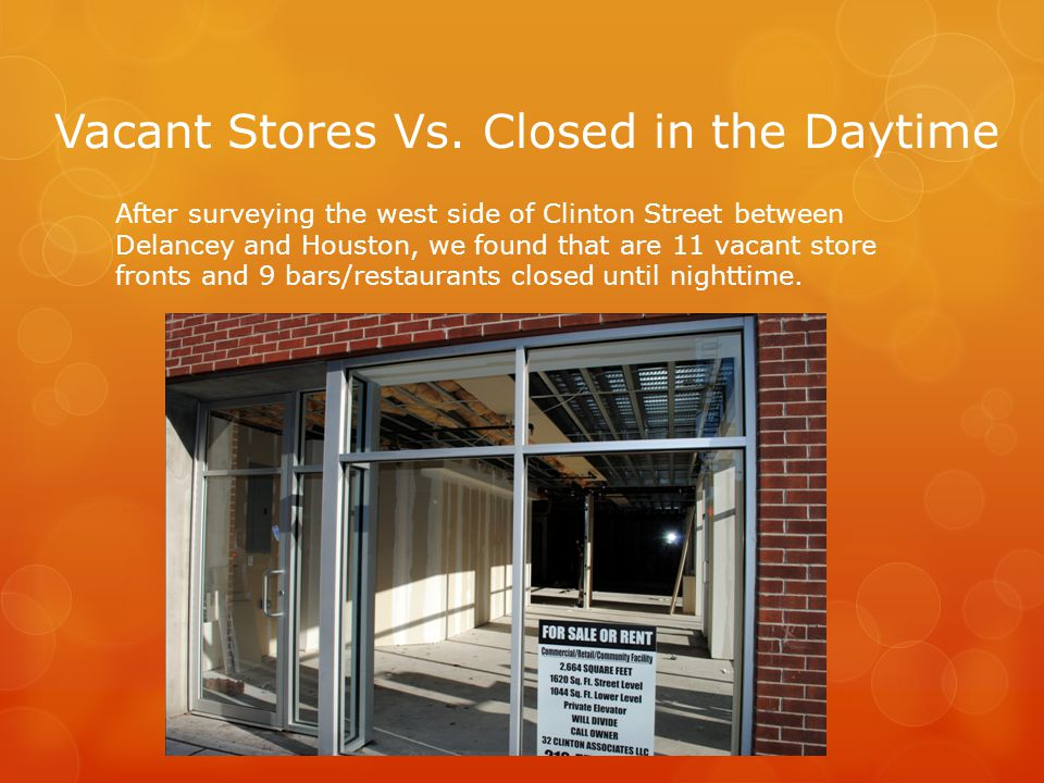 Vacant Stores Vs.