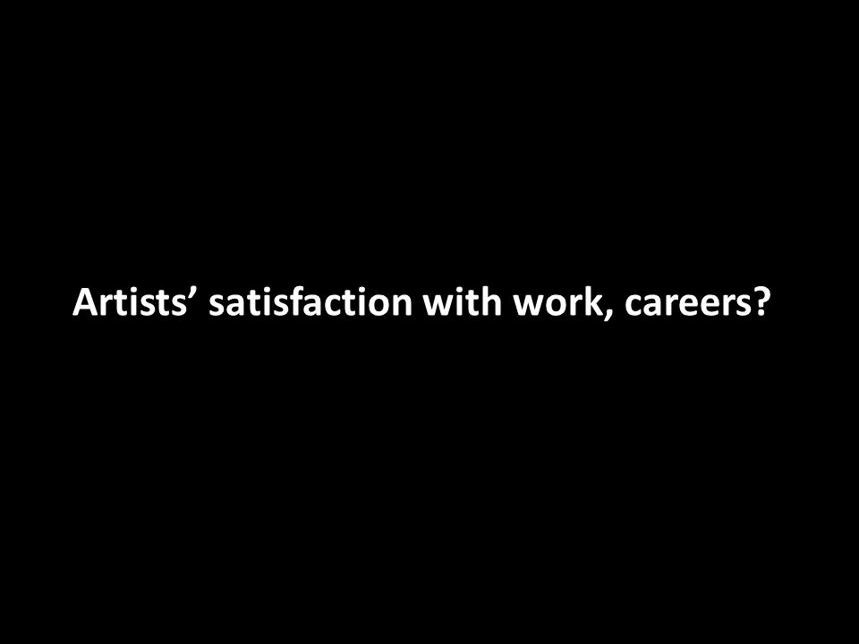 Artists satisfaction with work, careers?