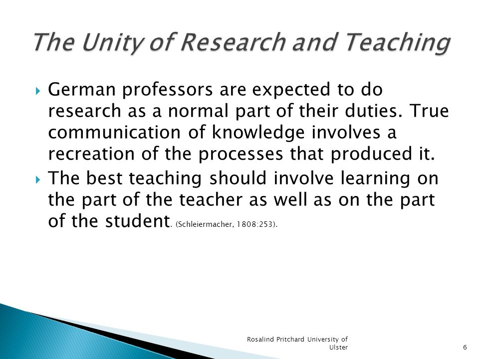 German professors are expected to do research as a normal part of their duties.