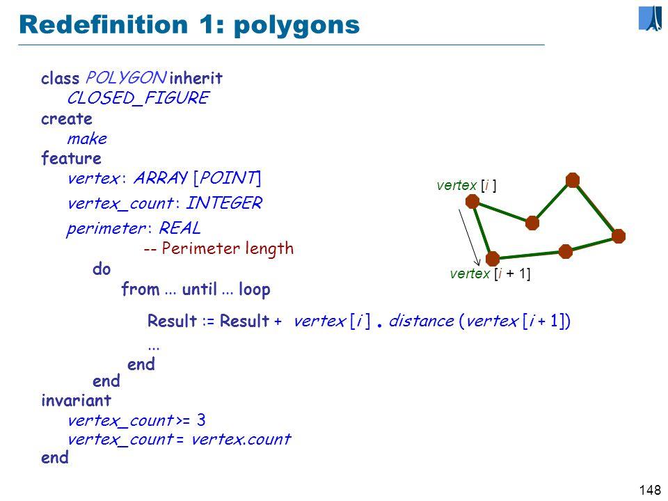 147 An inheritance hierarchy center * display * rotate * perimeter * perimeter + perimeter ++ diagonal...