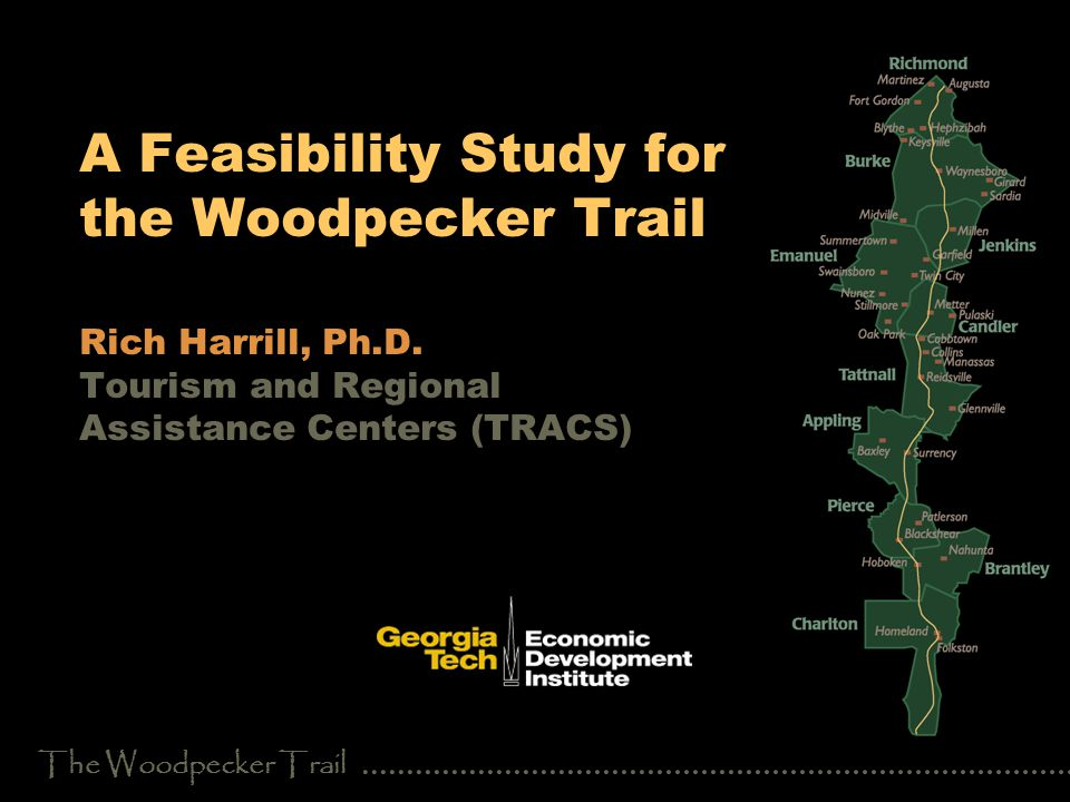 The Woodpecker Trail Introduction Woodpecker Route Association September 18, 1947 State route 121North Carolina, South Carolina, Georgia, and Florida 620 miles204 miles through Georgia Appling, Brantley, Burke, Candler, Charlton, Emanuel, Jenkins, Pierce, Richmond, and Tattnall