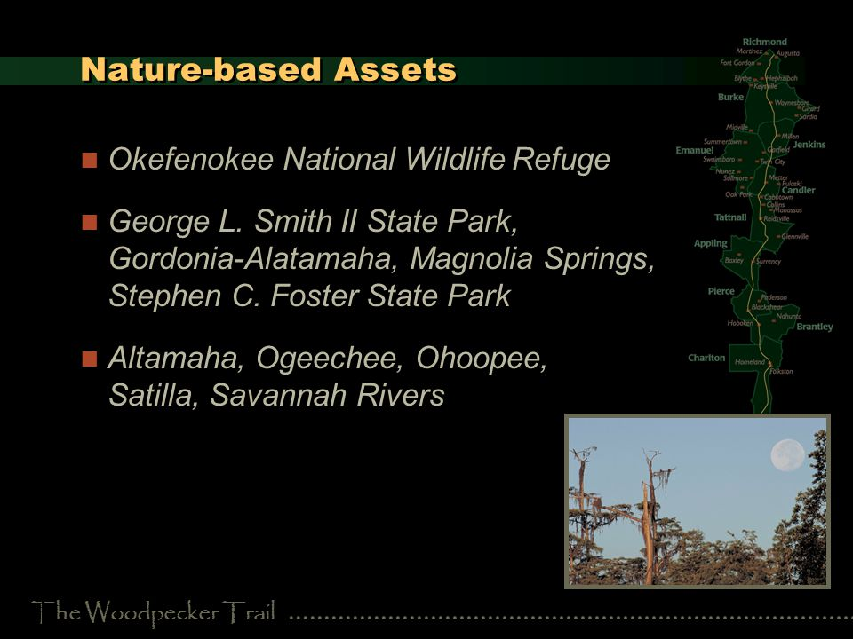 The Woodpecker Trail Nature-based Assets Okefenokee National Wildlife Refuge George L.