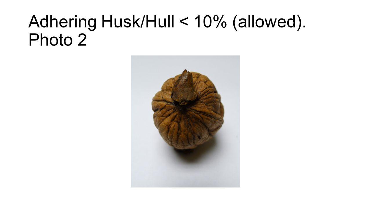 Adhering Husk/Hull < 10% (allowed). Photo 2