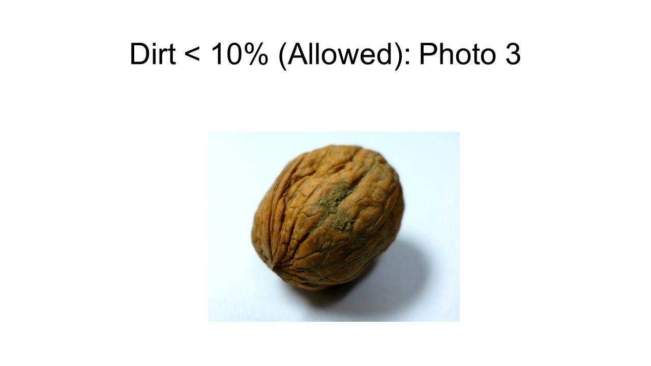 Dirt < 10% (Allowed): Photo 3