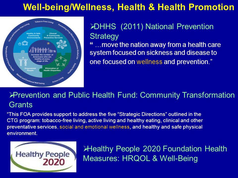 Disease Health Prevent or minimize disease, disability, injury Disease model vs.
