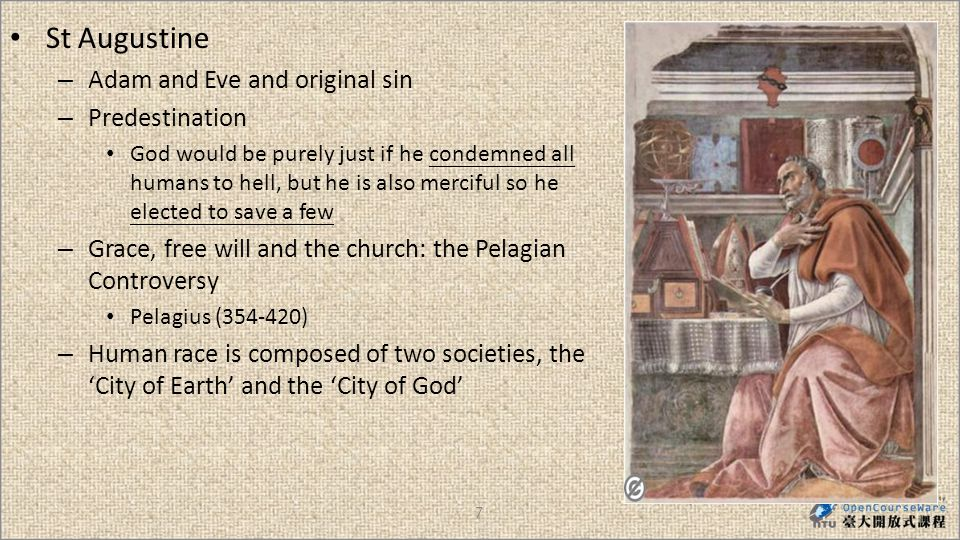 28 1)William of Ockham (c.1285-1349) – Nominalist: all universal ideas, all general concepts, were mere names = concepts had no demonstrable connection with external reality – Authority of the papacy as head of the universal church could be exercised by an emperor Pope John XXIIs quarrel with Emperor Lewis of Bavaria (1314-46) – Potentia Dei, freedom of God: Instead of the church, God could have chosen other means for humans salvation