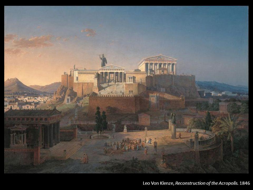 Leo Von Klenze, Reconstruction of the Acropolis. 1846