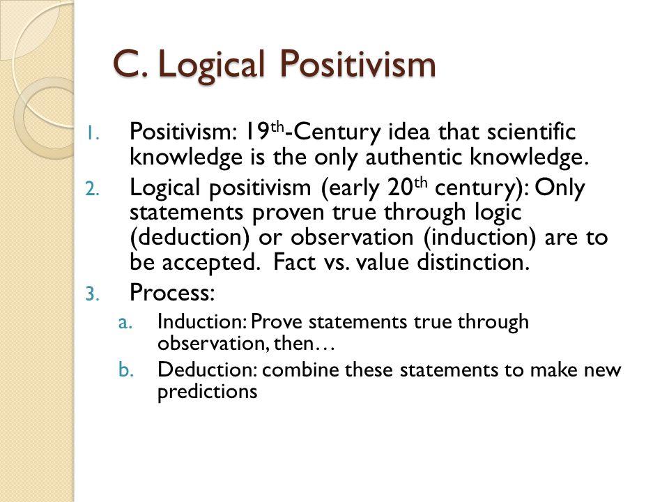 C.Logical Positivism 1.