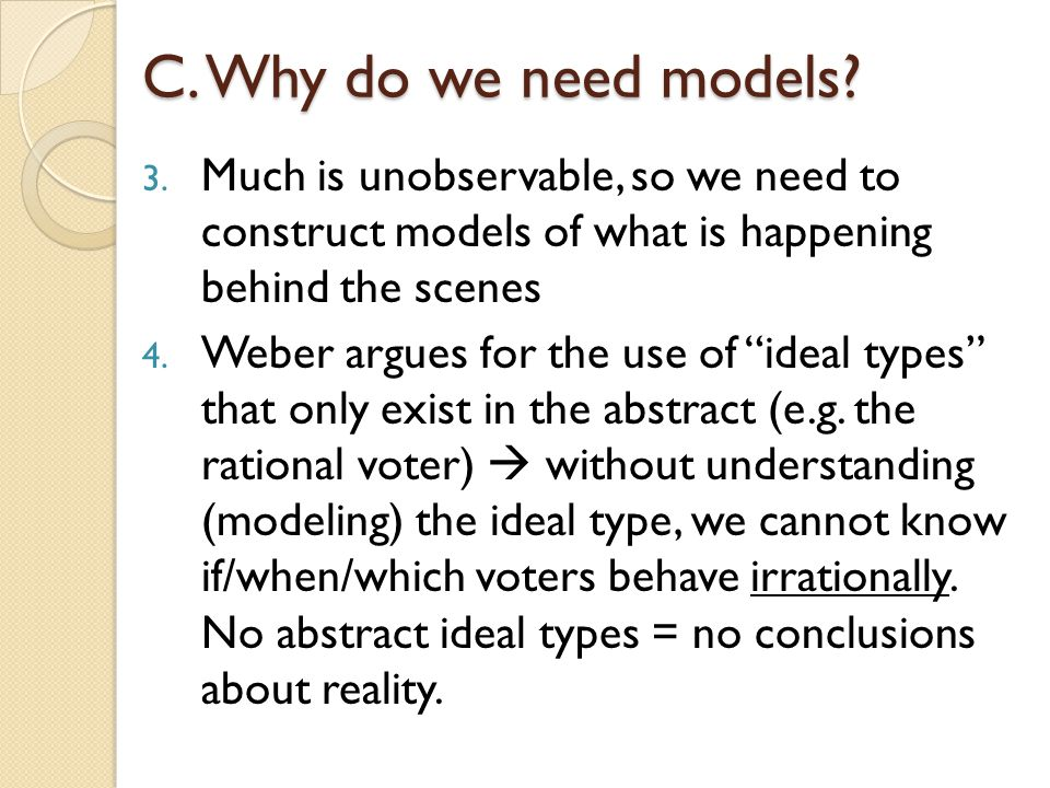 C.Why do we need models. 3.