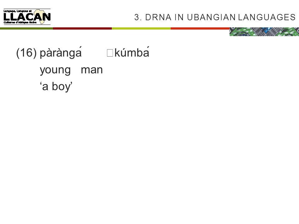 3. DRNA IN UBANGIAN LANGUAGES (16)pàràngákúmbá youngman a boy