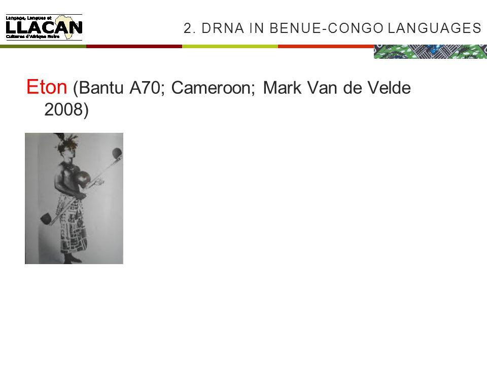 2. DRNA IN BENUE-CONGO LANGUAGES Eton (Bantu A70; Cameroon; Mark Van de Velde 2008)