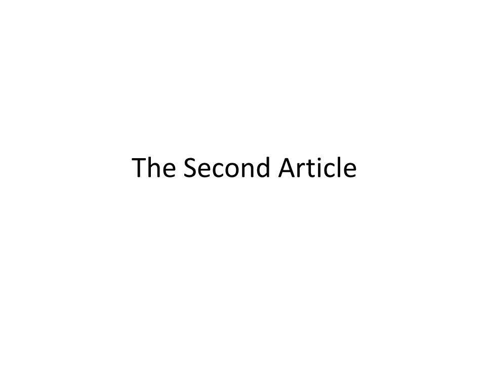 The Second Article