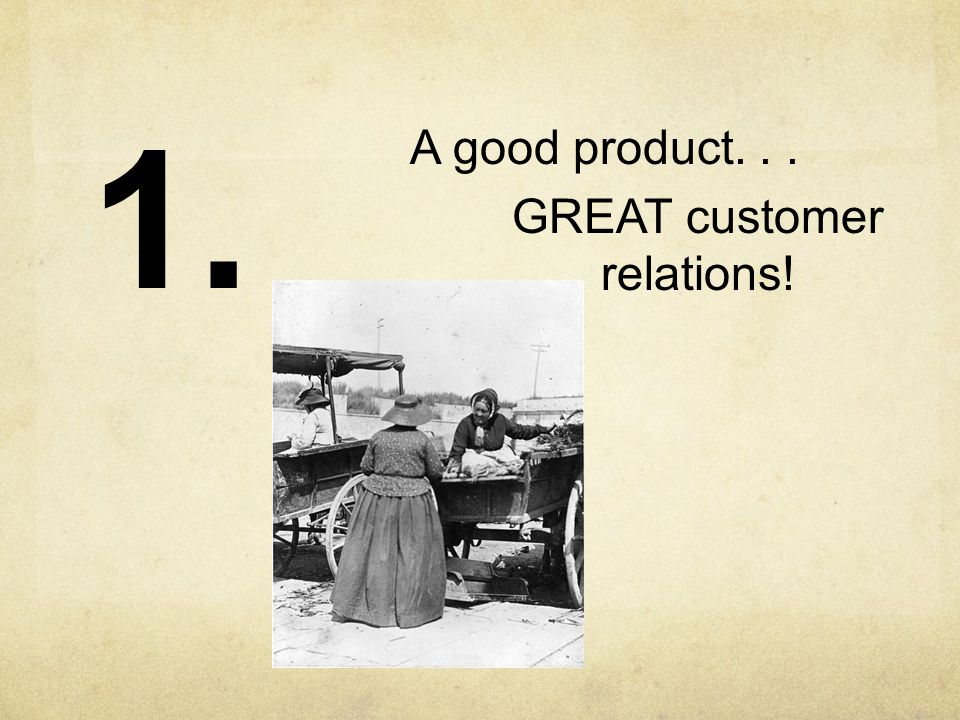 A good product... GREAT customer relations! 1.