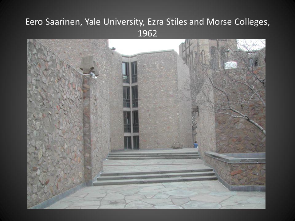 Eero Saarinen, Yale University, Ezra Stiles and Morse Colleges, 1962