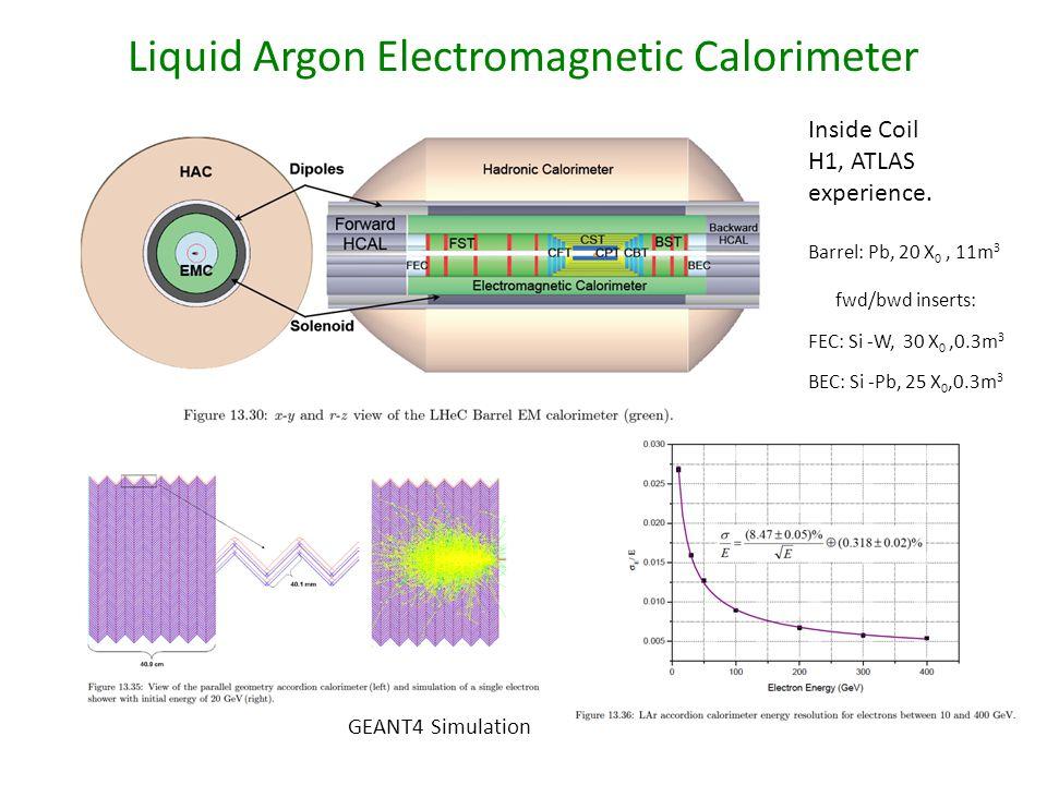Liquid Argon Electromagnetic Calorimeter Inside Coil H1, ATLAS experience.