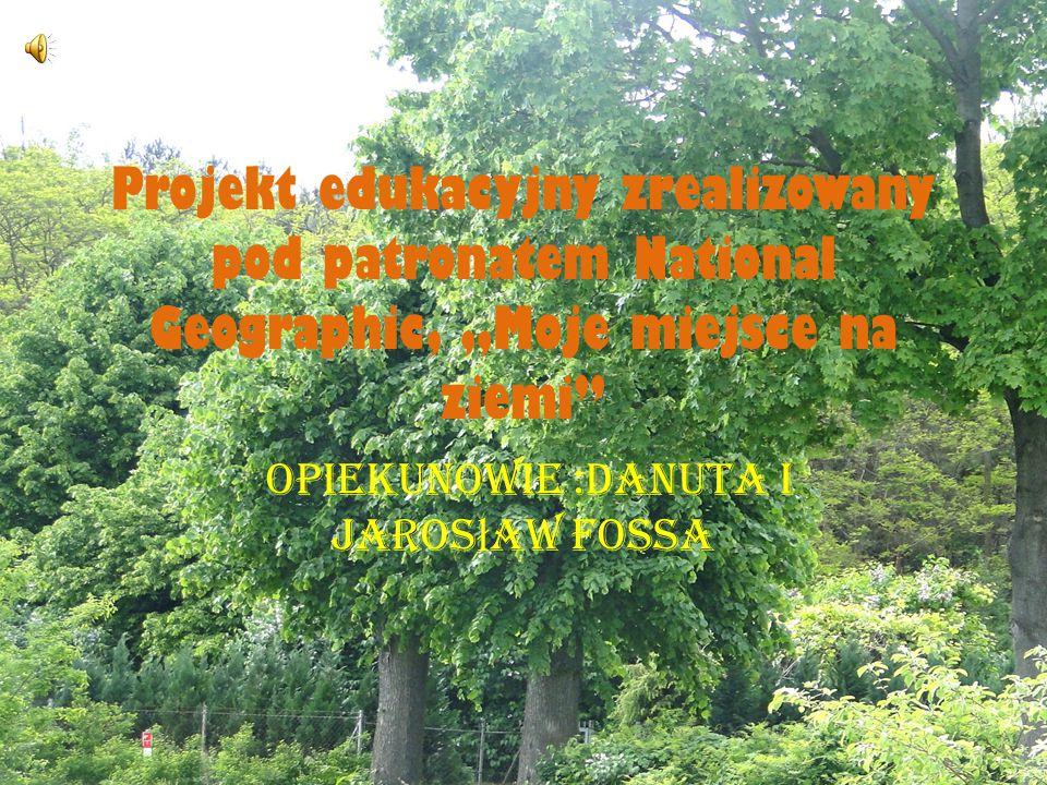 Projekt edukacyjny zrealizowany pod patronatem National Geographic, Moje miejsce na ziemi Opiekunowie :Danuta i Jaros ł aw Fossa