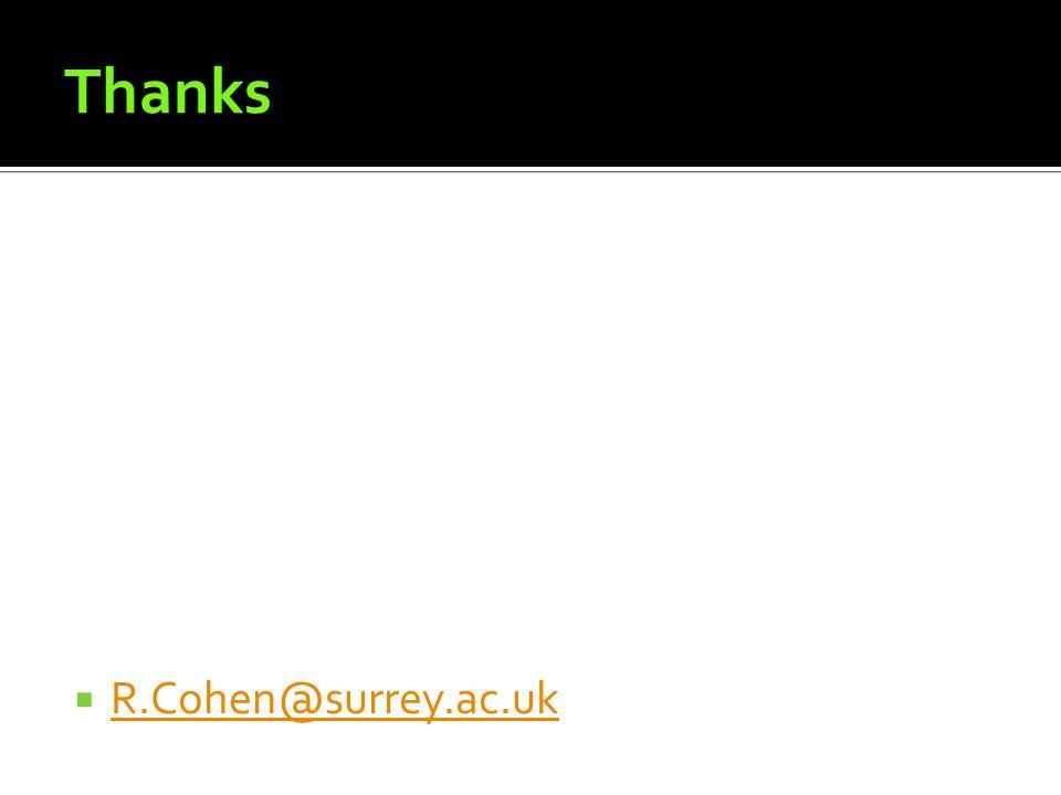 Thanks R.Cohen@surrey.ac.uk