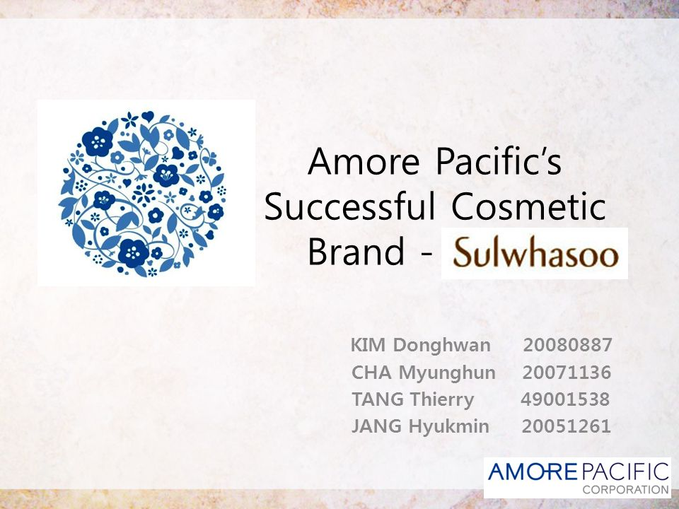 Contents Company Overview About Sulwhasoo Types of Innovation Timing of Entry Internal, External Analysis Summarization Suggestion