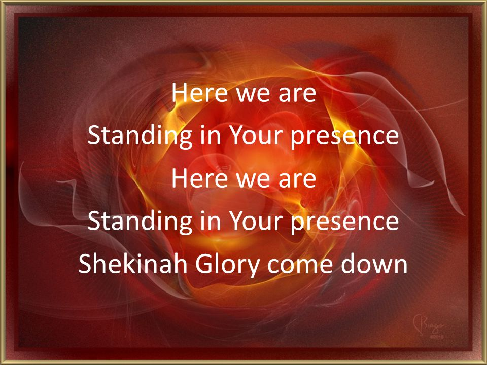 Release the fullness Of Your Spirit Shekinah Glory come